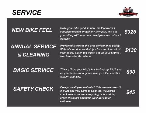 Bike Repair Chart