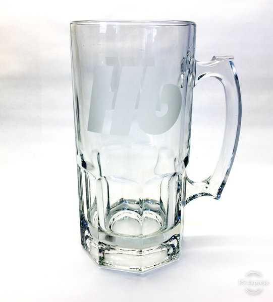 Hilltop Hb Logo Etched Glass Stein 32 oz.