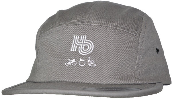 Hilltop Bicycles Hb NYC Adjustable Flat Bill Jockey Cap - Gray