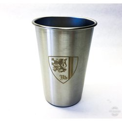 Hilltop Stainless Steel Hb Shield Pint Glass