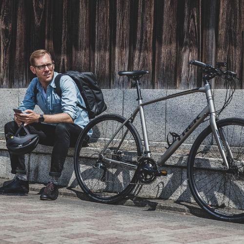 city bicyclist