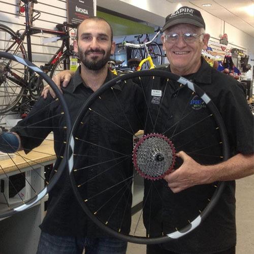 Bill holding wheel