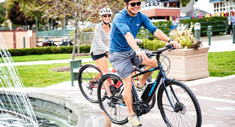 Cruise around town on a pedal assist bike