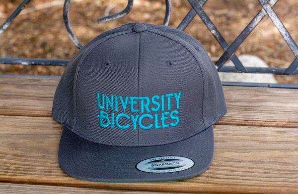 University Bicycles Flatbill Grey/Teal Hat