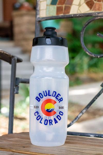 University Bicycles Boulder Colorado Custom Water Bottle