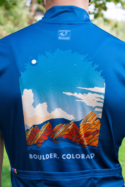 University Bicycles Men's Boulder Colorado Flatiron Jersey