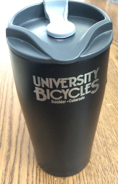 University Bicycles Black Stainless Mug
