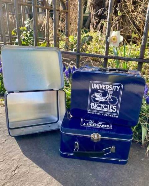 University Bicycles Custom Throw-Back Metal Lunch Box