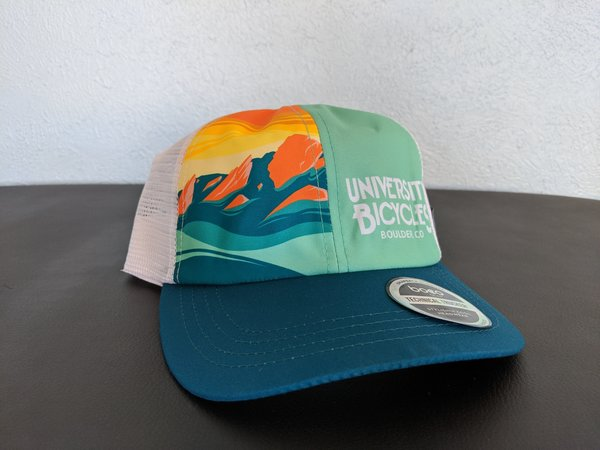 University Bicycles Tech Trucker Teal/Tropical