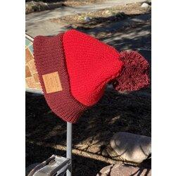 Santa Cruz Pom Beanie Hat Burgundy/Red