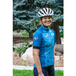 University Bicycles Women's Geometric Jersey