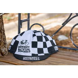 University Bicycles Checkered Cycling Cap Black/White