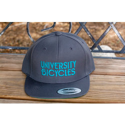 University Bicycles Flatbill Grey/Teal Hat