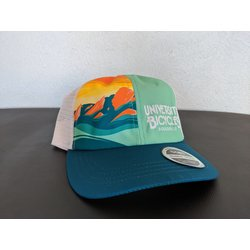 University Bicycles Tech Trucker Flatirons Teal/Tropical Hat
