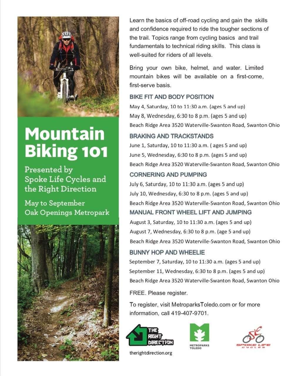 Oak Openings 2018 Mountain Biking 101