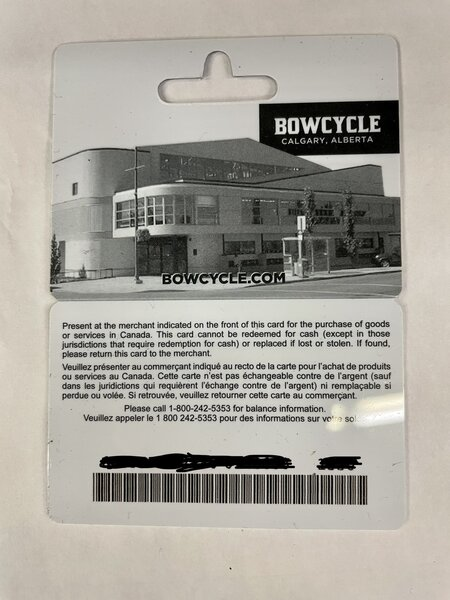 Bow Cycle Gift Card (Email)