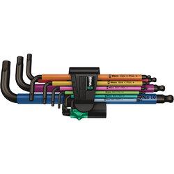 Wera Wera Tools Hex Plus Multicolour Long Arm L-Key Set, Metric, 9 Pieces