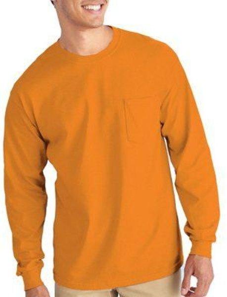 Gilden Apparel Safety Orange Long sleeve T-Shirt