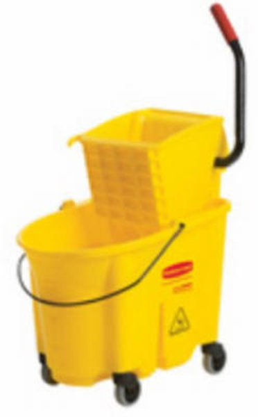 Rubbermaid Rubbermaid 26/35 QT Yellow Mop Bucket & Wringer