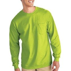 Gilden Apparel Safety Green Long sleeve T-Shirt