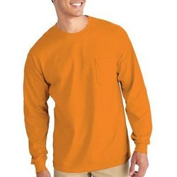 Gilden Apparel Safety Orange Long sleeve T-Shirt