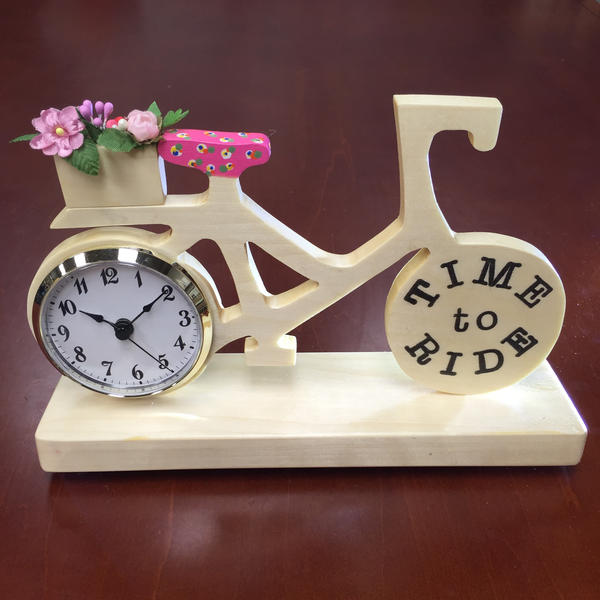 Mercedes Jorgensen Time to Ride Bike Clock