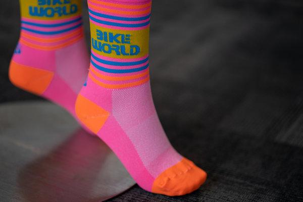 "Save Our Soles Bike World Logo 5"" Socks"