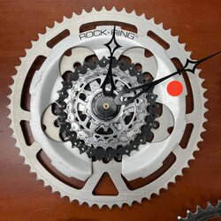 Bike World Component Clock