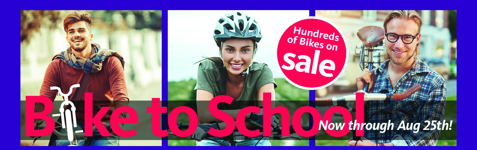 Shop Recycled Cycles Bike to School Sale now through August 25th for the largest selection of new and used bikes in Northern Colorado!