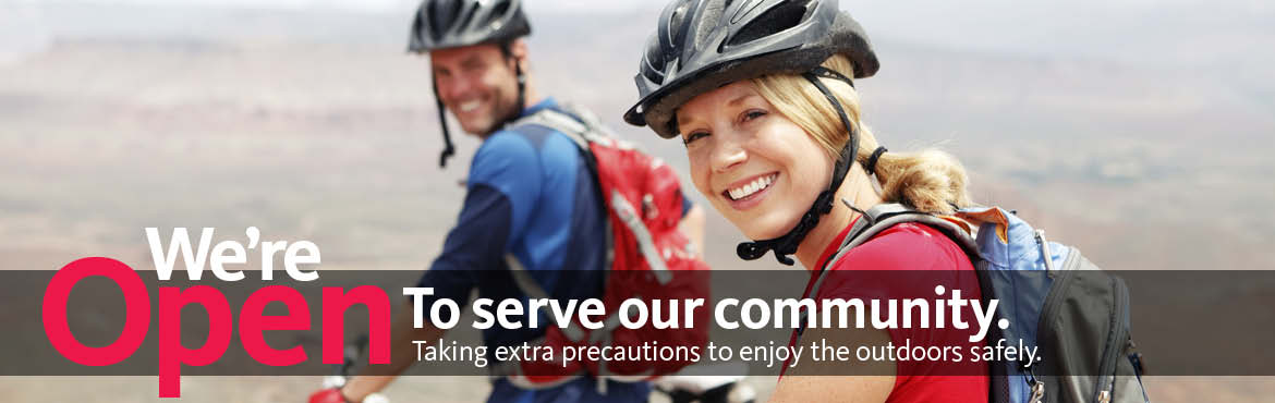 We're open to serve the cycling community!
