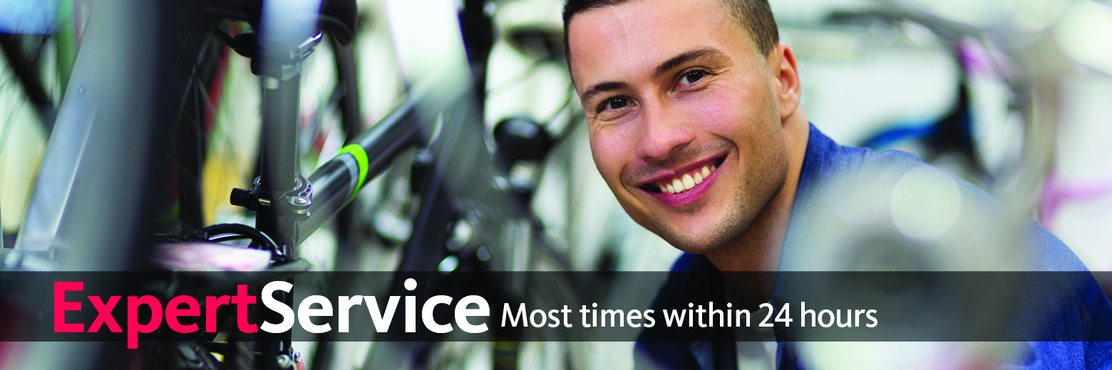Our certified bicycle mechanics repair all makes, models and styles of bicycles - most times within 24 hours. All bicycle service and repairs include a 30 day satisfaction guarantee. No appointment necessary.