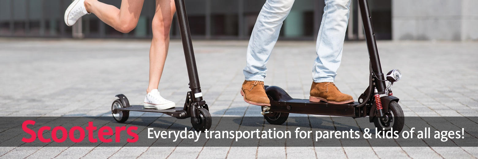 Scooters provide everyday transportation for parents & kids of all ages!