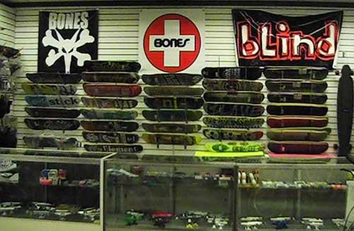 skateboard shop