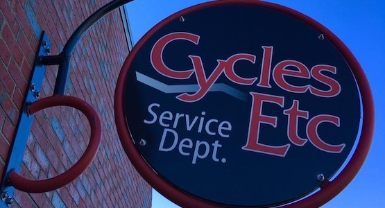 Cycles Etc Sign