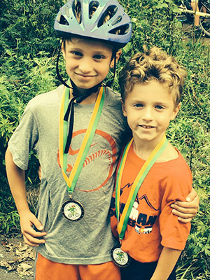 Luke (age 8) and Jesse (age 6), who each came in 3rd in their respective age groups (k-1 and 2-3).