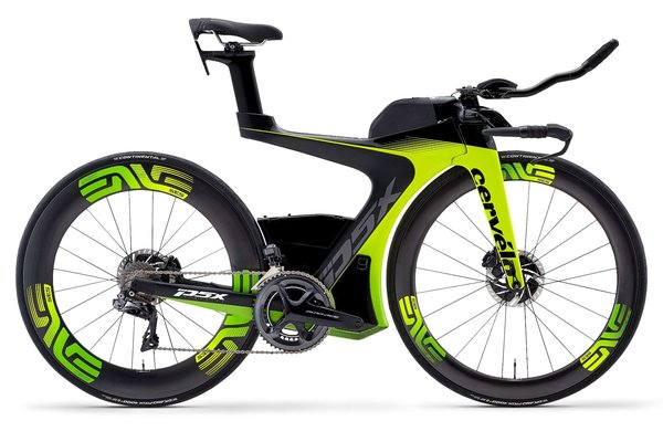 Cervelo P5X Dura-Ace Di2 Color: Fluoro/Green/Black