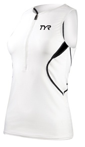 TYR Competitor Male Singlet Color: White/Black