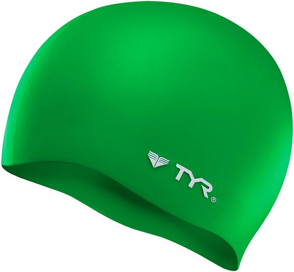 TYR Silicon Wrinkle Free Swim Cap Color: Green