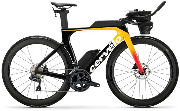 Cervelo P SERIES ULTEGRA Di2 DISC Color: Light Orange/Coral