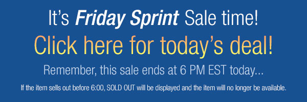 Friday Sprint Sale