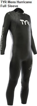 TYR Hurricane Men's Full Sleeve Wetsuit Rental