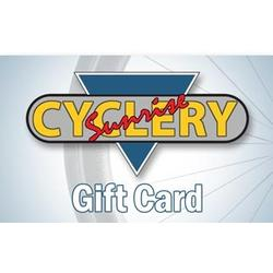 Sunrise Cyclery Gift Card - FREE 1-3 DAY SHIPPING