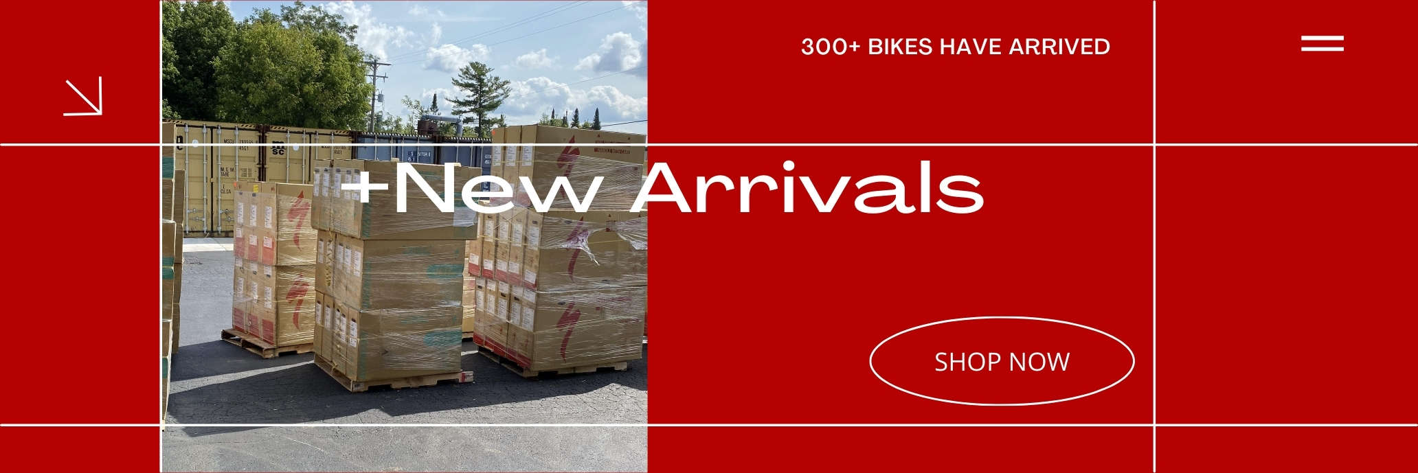 More than 300 bikes are now in stock
