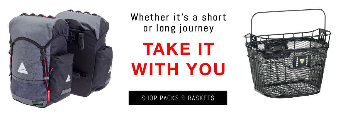 Shop cycling packs, racks & baskets at McLain Cycling & Fitness