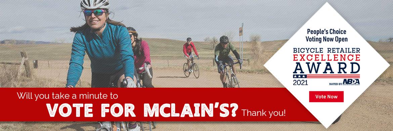Vote McLain's the best bike shop!