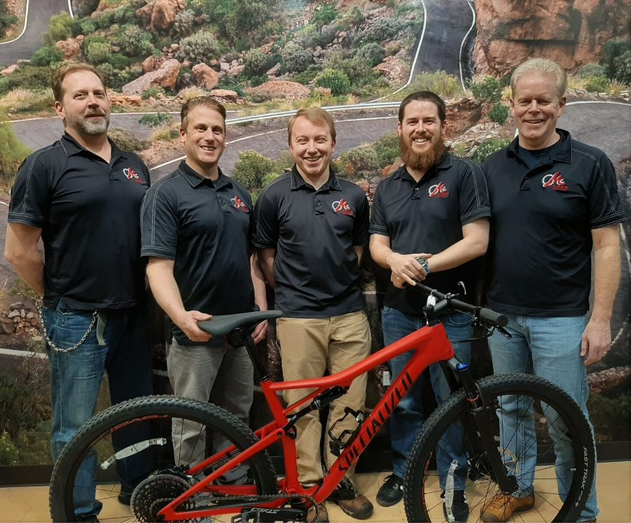 McLain's Bike Service team