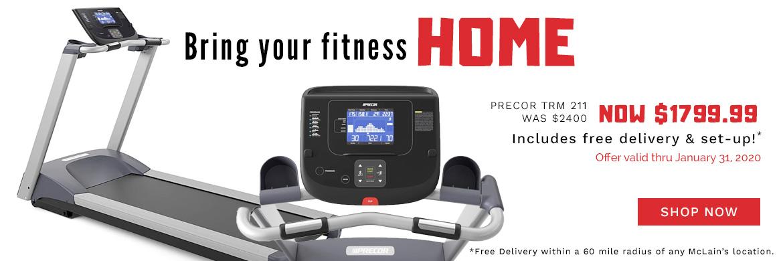 Save now on the Precor 211 Treadmill
