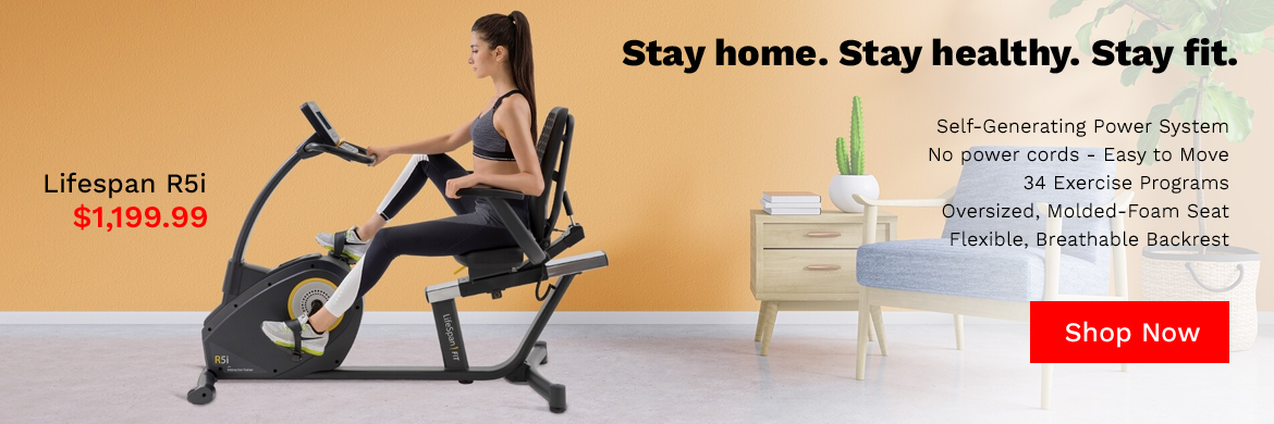 Stay home, Stay healthy, Stay fit with a recumbent bike