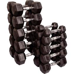 Body Solid 5-50lb Rubber Coated Dumbbell Set
