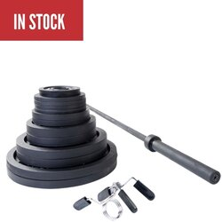 Body Solid Body Solid 300 lb Olympic Bar Weight Set